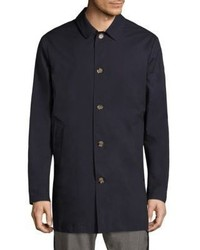 Eleventy Wind Water Resistant Silk Short Trench Coat