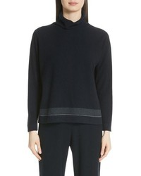 Fabiana Filippi Bead Detail Cashmere Turtleneck Sweater