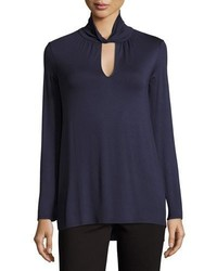 Bella keyhole turtleneck navy medium 3638377