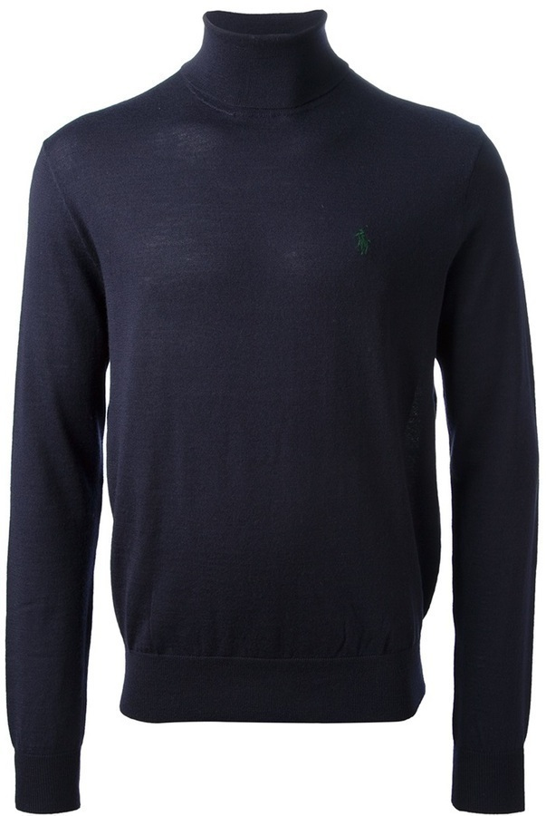Ralph Lauren Blue Turtle Neck Sweater