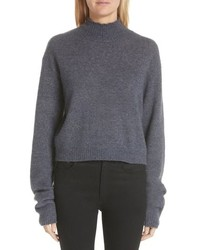 Adam Lippes Brushed Cashmere Silk Turtleneck Sweater