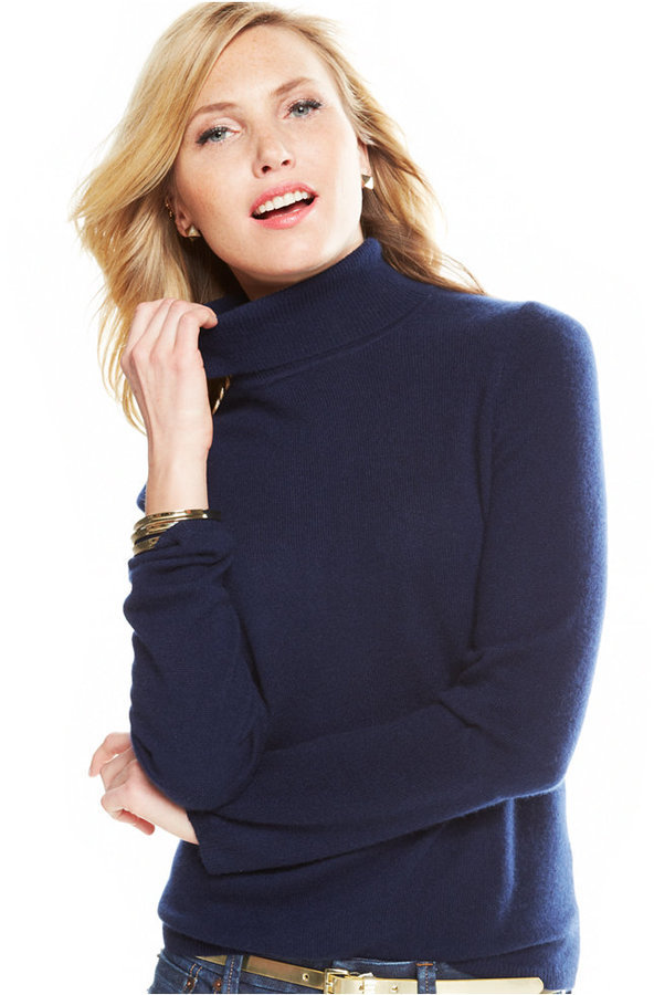 34957a864c3 ... Charter Club Cashmere Turtleneck Sweater Only At Macys ...