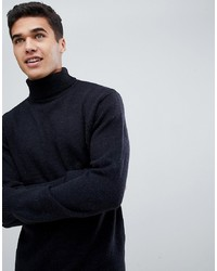 French Connection Chunky Roll Neck Jumper Plain