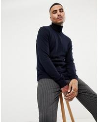 Jefferson Fine Gauge Merino Wool Blend Roll Neck