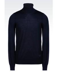 Giorgio Armani Turtleneck Sweater In Shaved Wool
