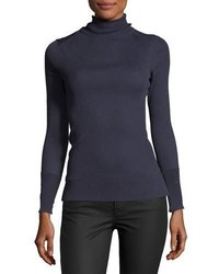 Tory Burch Lana Lightweight Ribbed Turtleneck