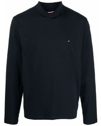 Tommy Hilfiger Logo Embroidered Roll Neck T Shirt