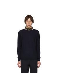 Fendi Navy Forever Knit Merino Sweater