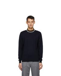 Fendi Navy Forever Mock Neck Sweater