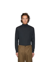 Lemaire Navy Sunspel Edition Jersey Turtleneck