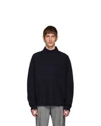 Hope Navy Wool Bold Sweater