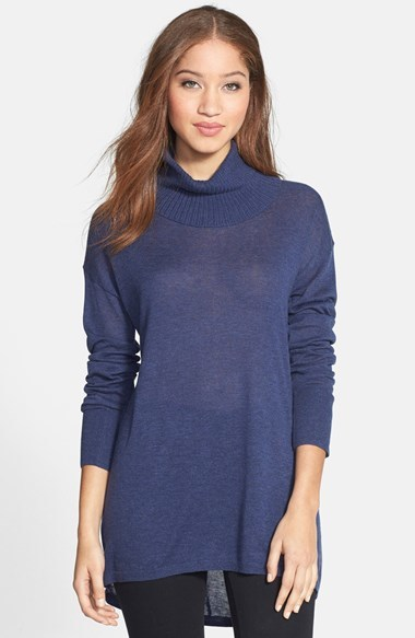 Halogen Relaxed Turtleneck Tunic Sweater | Where to buy & how to wear