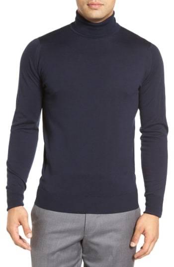 John Smedley Richards Easy Fit Turtleneck Wool Sweater