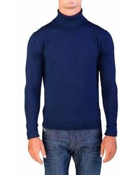 Valentino Turtleneck Sweater Navy Blue