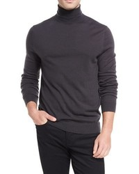 Wool cashmere turtleneck sweater medium 4985642