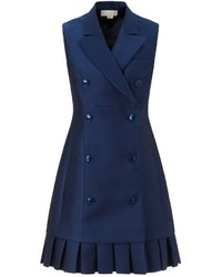 Navy tuxedo style dress medium 296943