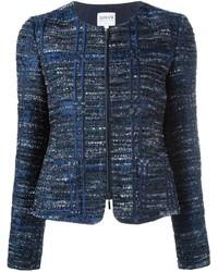 Armani collezioni zip up tweed jacket medium 708154