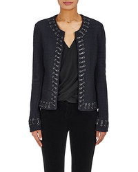 L'Agence Devereaux Whipstitched Tweed Jacket
