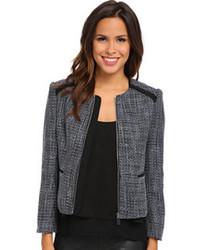 Vince Camuto Front Zip Tweed Jacket