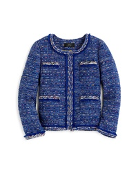 J.Crew Multicolor Cobalt Tweed Lady Jacket