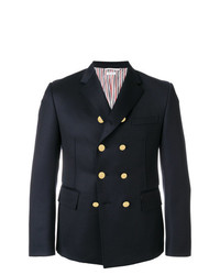 Thom Browne Cavalry Twill Double Breasted Pintuck Sport Coat