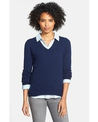 Navy v neck sweater original 1321341