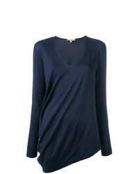 Fay Asymmetric V Neck Jumper