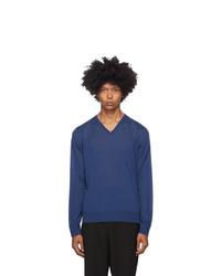 Giorgio Armani Blue Wool Sweater