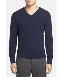 Burberry Brit Dockley V Neck Wool Sweater