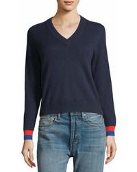 Kule Cashmere Sawyer V Neck Sweater Top