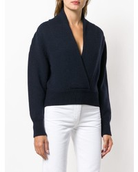 A_Plan_Application Cropped V Neck Sweater