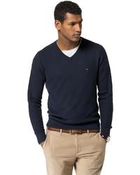 Tommy Hilfiger Final Sale  Classic V Neck Sweater