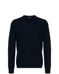Roberto Collina Fine Knit V Neck Sweater