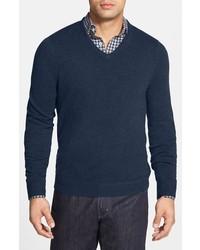 John w nordstrom cashmere v neck sweater medium 361246