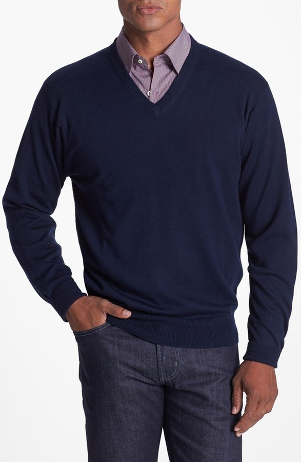 Peter Millar Merino Wool V Neck Sweater | Where to buy & how to wear