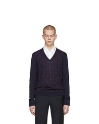 Gucci Navy V Neck Sweater