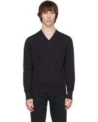 Tom Ford Navy V Neck Sweater
