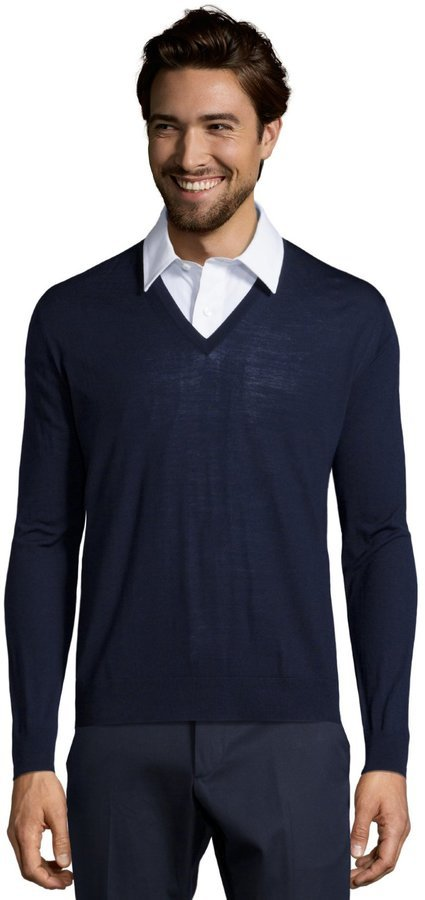 Prada V-neck sweater Big Discount Inexpensive Buy Cheap Looking For Visit New O3tsALg