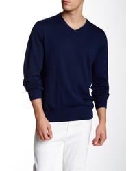 Robert Graham New Castle Wool V Neck Sweater