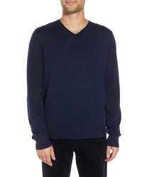 Vince Regular Fit Elbow Patch Merino Wool Sweater