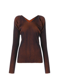MM6 MAISON MARGIELA Ribbed V Neck Sweater