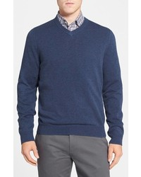 Nordstrom Shop Cotton Cashmere V Neck Sweater