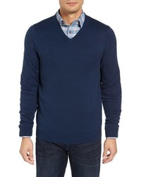 Shop cotton cashmere v neck sweater medium 3746321