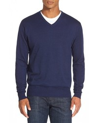Peter Millar Silk Blend V Neck Sweater