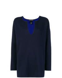 Iris von Arnim Split Neck Sweater