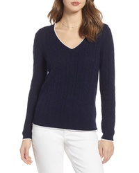 1901 Tipped Cable Sweater
