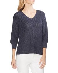 Vince Camuto V Neck Marled Sweater
