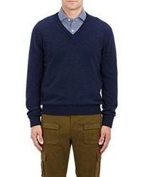 Barneys New York V Neck Sweater Navy Size M