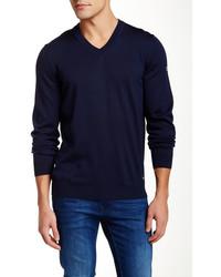 Hugo Boss Veeh V Neck Wool Blend Sweater