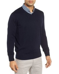 Peter Millar Wool Silk V Neck Sweater